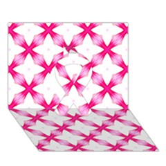 Cute Pretty Elegant Pattern Ribbon 3d Greeting Card (7x5)