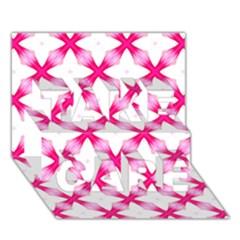 Cute Pretty Elegant Pattern Take Care 3d Greeting Card (7x5)