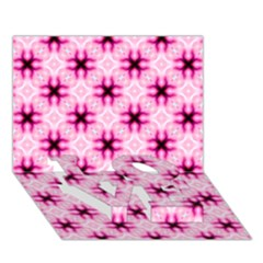 Cute Pretty Elegant Pattern Love Bottom 3d Greeting Card (7x5)