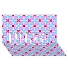 Cute Pretty Elegant Pattern HUGS 3D Greeting Card (8x4)
