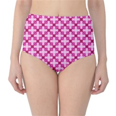 Cute Pretty Elegant Pattern High Waist Bikini Bottoms