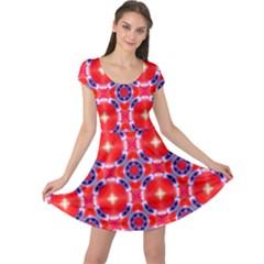 Cute Pretty Elegant Pattern Cap Sleeve Dresses