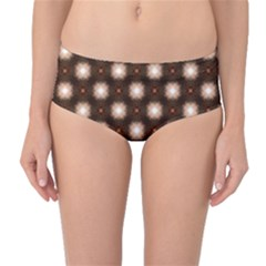Cute Pretty Elegant Pattern Mid-Waist Bikini Bottoms