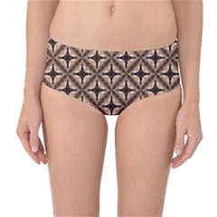 Cute Pretty Elegant Pattern Mid-Waist Bikini Bottoms