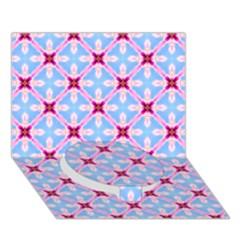 Cute Pretty Elegant Pattern Circle Bottom 3d Greeting Card (7x5)
