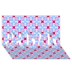 Cute Pretty Elegant Pattern #1 Dad 3d Greeting Card (8x4)