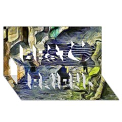 Banks Of The Seine KPA Best Friends 3D Greeting Card (8x4)