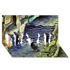 Banks Of The Seine KPA BEST SIS 3D Greeting Card (8x4)