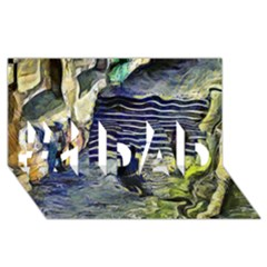 Banks Of The Seine KPA #1 DAD 3D Greeting Card (8x4)