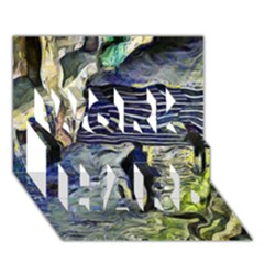 Banks Of The Seine Kpa Work Hard 3d Greeting Card (7x5)