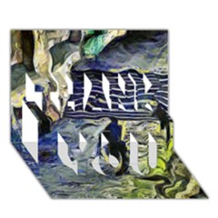 Banks Of The Seine KPA THANK YOU 3D Greeting Card (7x5)