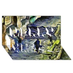 Banks Of The Seine KPA Merry Xmas 3D Greeting Card (8x4)