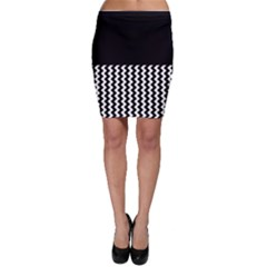 Blackandwhitechevron6000 Bodycon Skirts