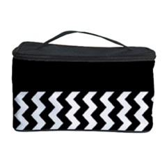Blackandwhitechevron6000 Cosmetic Storage Cases