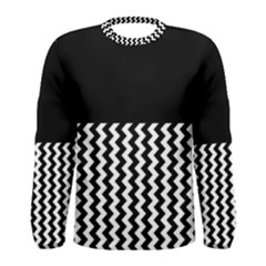 Black And White Chevron Men s Long Sleeve T Shirts
