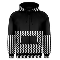 Blackandwhitechevron6000 Men s Zipper Hoodies