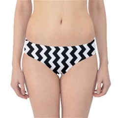 Black and White Chevron Hipster Bikini Bottoms
