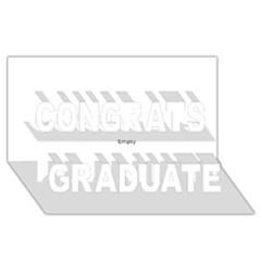 Comic Book POW! Congrats Graduate 3D Greeting Card (8x4)