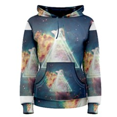Nebula Cat Triangle Women s Pullover Hoodies