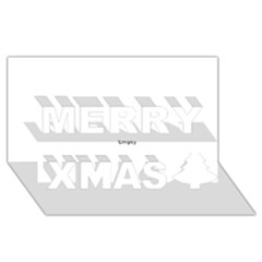 Comic Book POW! Merry Xmas 3D Greeting Card (8x4)