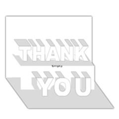 Comic Book ZAP! THANK YOU 3D Greeting Card (7x5)