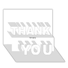 Comic Book POP! THANK YOU 3D Greeting Card (7x5)