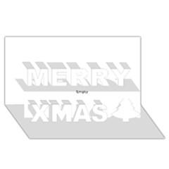 Comic Book WHAM! Merry Xmas 3D Greeting Card (8x4)
