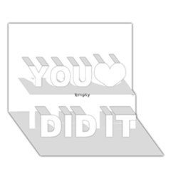 Comic Book LOVE! You Did It 3D Greeting Card (7x5)