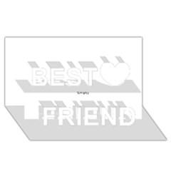 Comic Book Love! Best Friends 3d Greeting Card (8x4)