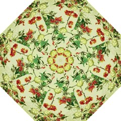 Vintage Style Floral Design Hook Handle Umbrellas (Large)