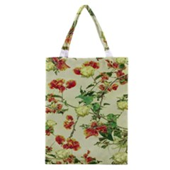 Vintage Style Floral Design Classic Tote Bags