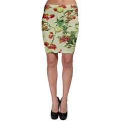 Vintage Style Floral Print Bodycon Skirts