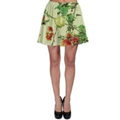 Vintage Style Floral Print Skater Skirts