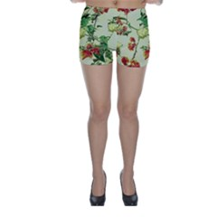 Vintage Style Floral Print Skinny Shorts