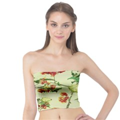 Vintage Style Floral Print Women s Tube Tops