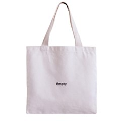 THINK LIKE A PROTON AND STAY POSITIVE Zipper Grocery Tote Bags