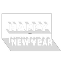 Fingerprint ID Happy New Year 3D Greeting Card (8x4)