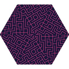 Pink Blue Maze Umbrella