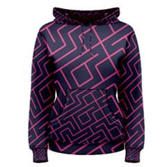 Pink blue maze Pullover Hoodie