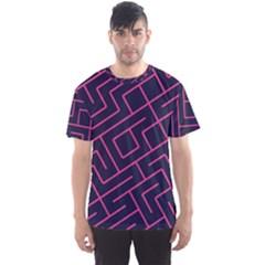 Pink Blue Maze Men s Sport Mesh Tee