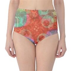 Fading Shapes High Waist Bikini Bottoms