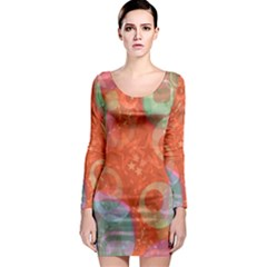 Fading shapes Long Sleeve Bodycon Dress
