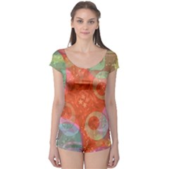 Fading shapes Short Sleeve Leotard