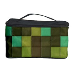 Green tiles pattern Cosmetic Storage Case