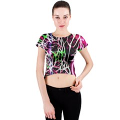 Officially Sexy Panther Collection Pink Crew Neck Crop Top