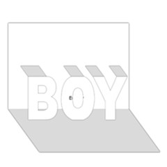 Atomic Structure Boy 3d Greeting Card (7x5)