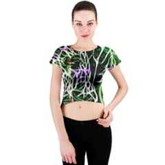 Officially Sexy Panther Collection Green Crew Neck Crop Top