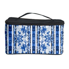 Chinoiserie Striped Floral Print Cosmetic Storage Cases