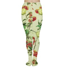 Vintage Style Floral Print Women s Tights