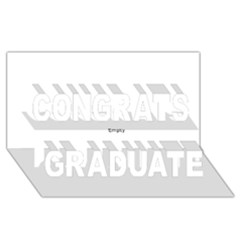 Multi Col Pills Pattern Congrats Graduate 3D Greeting Card (8x4)